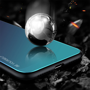 Image 3 - Gradient Tempered Glass Case For iPhone XR 7 8 6 6s Plus on the For iPhone X XS XS Max Phone Cases Cover Protective Fundas