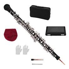 Muslady Профессиональный oboe C Ключ полуавтоматический стиль никелированные ключи деревянный духовой инструмент с сумкой для переноски мини-отвертка