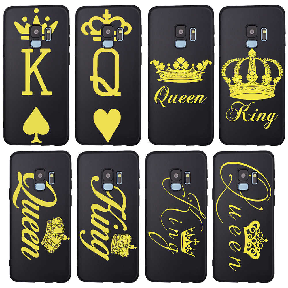 Rey reina para Samsung Galaxy A9 A8 A7 A6 A5 A3 J3 J4 J5 J6 J8 Plus 2017 2018 M30 a40S A10 A20E funda de teléfono funda etui