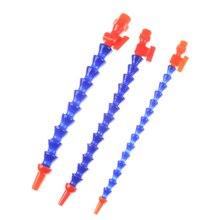 """Трубы для масляной охлаждающей жидкости 300 мм Синяя круглая насадка водяное охлаждение гибкие шланги для масляной охлаждающей жидкости пластиковые 1/"""" 3/8"""" 1/"""" светильник бамбуковая машина"""