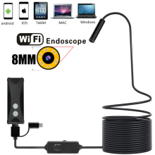 IFI Endoscope Camera Mini Waterproof Soft Cable Inspection Camera 8mm USB Endoscope Borescope Endoscope For iphones endoscoop