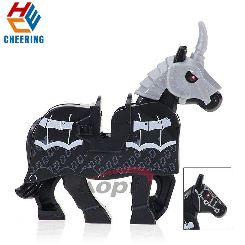 Single Sale Building Blocks Hobbit Collection Rome Knights Wars Blue Horse Crown Bricks Figures Bricks Gift Toys For Kids XH 602