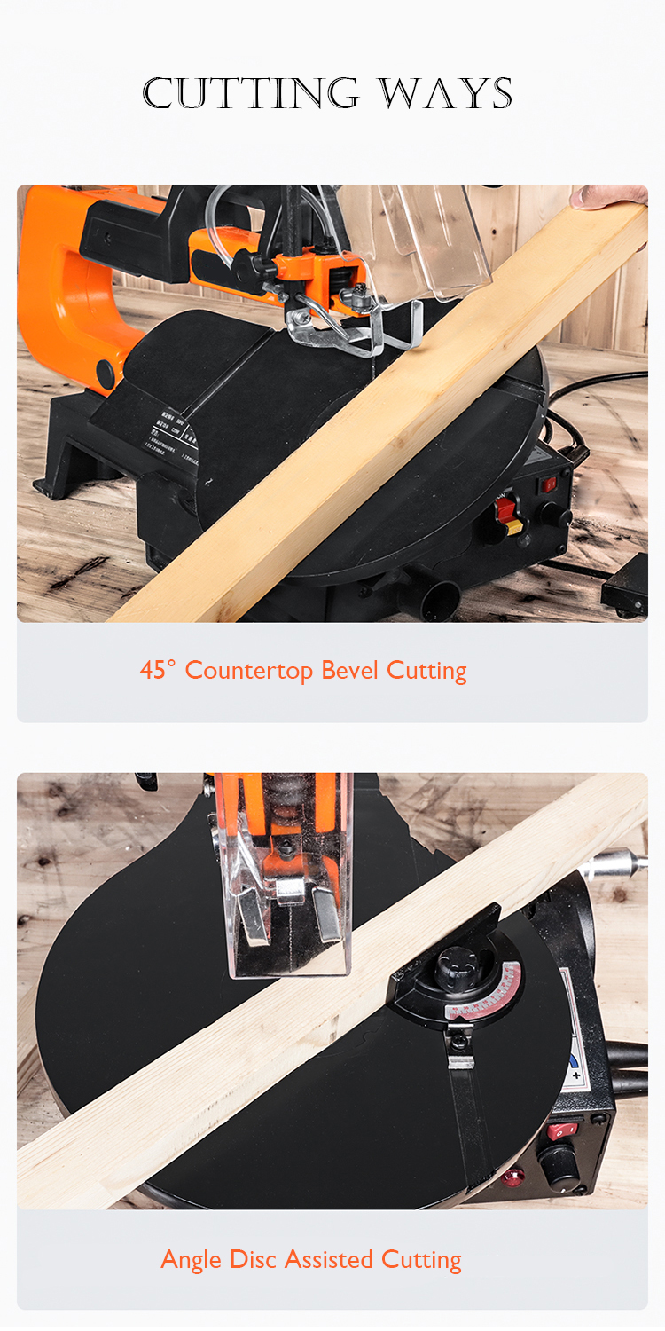 Hbe3ff455fb184d1abe737369226cf191I - LIVTER 16 inch Electric Scroll Jig Saw Woodworking Wire Sawing Carving Machine Carpentry Cutting Table Saw Adjustable Speed
