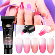 Voldoen Over 20 Ml Poly Extension Gel Quick Builder Extension Enhancement Uv Gel Tips Roze Clear Crystal Nail Gel Polish manicure(China)