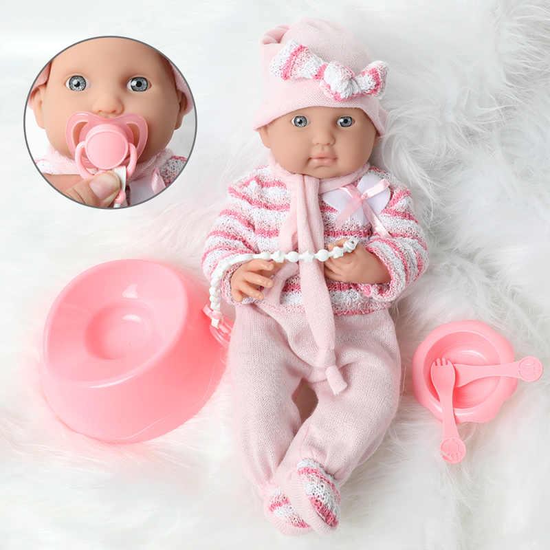 40CM full body miękkiego silikonu Reborn ubrania dla lalki zestaw zabawka 16 cal Boneca wodoodporna realistyczne noworodka bebe lalki dla zabawek dla dzieci