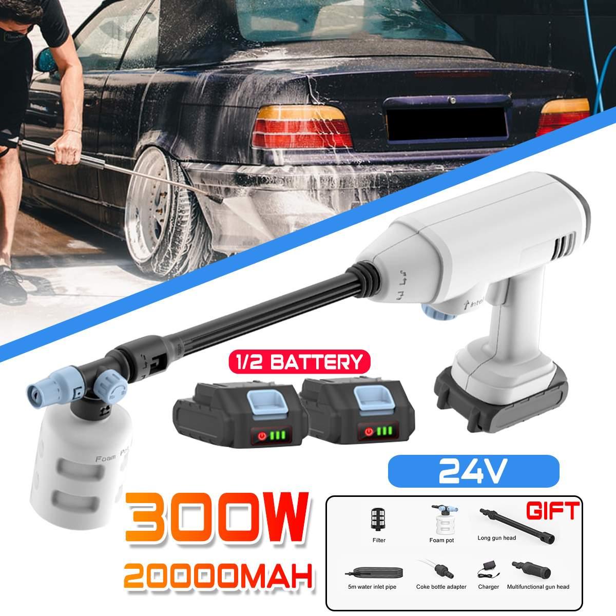 20000mAh 35BAR Wireless High Pressure Car Washe Water Gun Portable High Pressure electric Car Washer Foam Generator for Makita