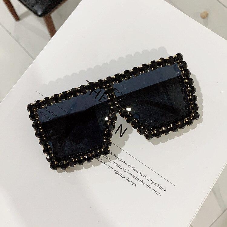 Luxury Brand Square Women Sunglasses 2021 trend Retro Sunglass Lady Oversized Rhinestone Decoration Sun Glasses Shades For Women (6)