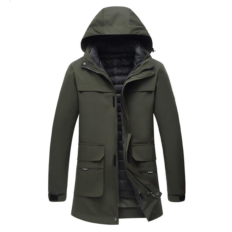New Big Plus Size 10XL  9XL 8XL  7XL 6XL Winter  Waterproof  Warm  Jackets And  Coats Thick Warm Fashion Casual 2 In 1 Men Parka