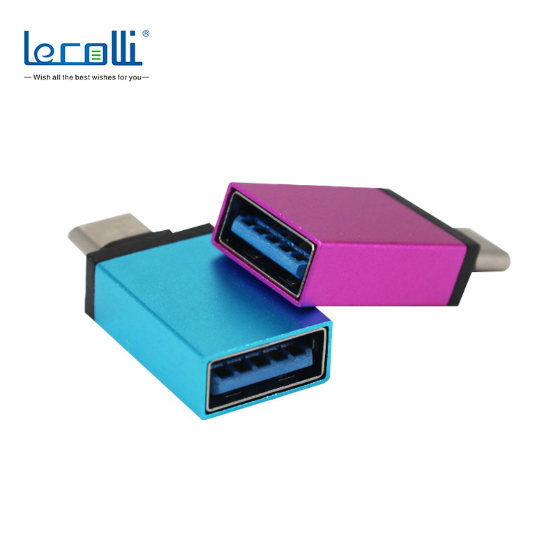 USB3.0 Internal Thread To C-Type Adapter Aluminum Alloy Long 2 In 1 Compact Portable Android Device U Disk  Converter