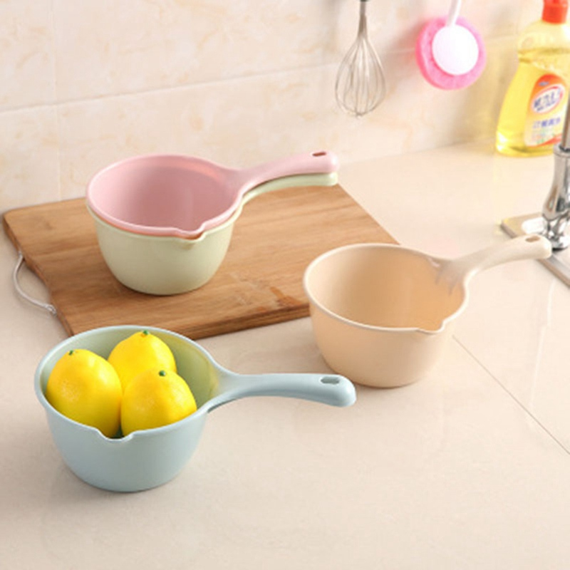 New Plastic Bathing Ladle Spoons Kitchen Accessories Bathroom Thick Water Scoop Cup Baby Kids Shampoo Bath Spoon Home Essential