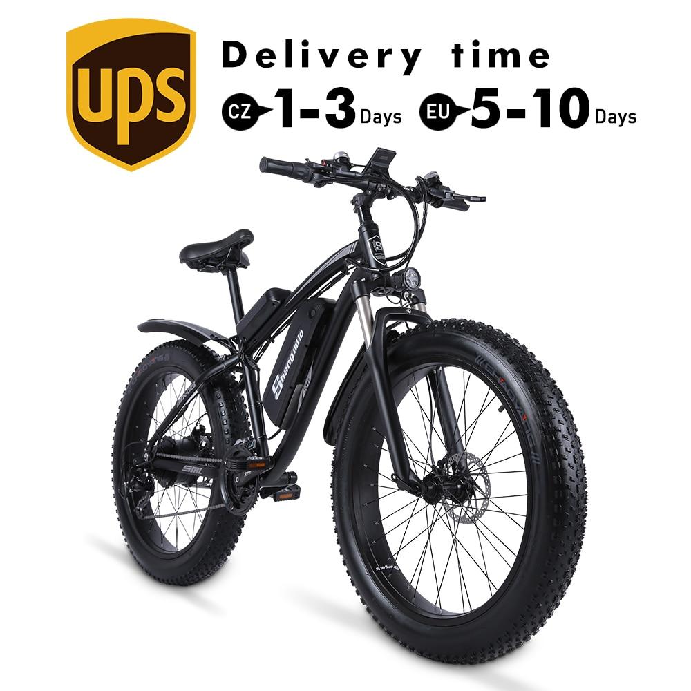 MX02S Электрический велосипед 1000W снеговой велосипед электрический велосипед Электрический горный велосипед 26 Дюймов 4,0 жира шины электровел...