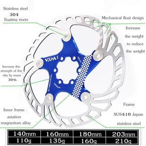 Image 4 - VXM Brake Disc Pads 140/160/180/203mm Bike Brake Rotors MTB Cooling Float Disc Brake Bicycle Accessories Float Brake Disc Pads