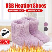 1 Pair USB Heated Warm Feet Thick Flip Flop Warm Foot Treasure Warmer Shoe Winter Warming Pad Heating Insoles Warm Comfortable