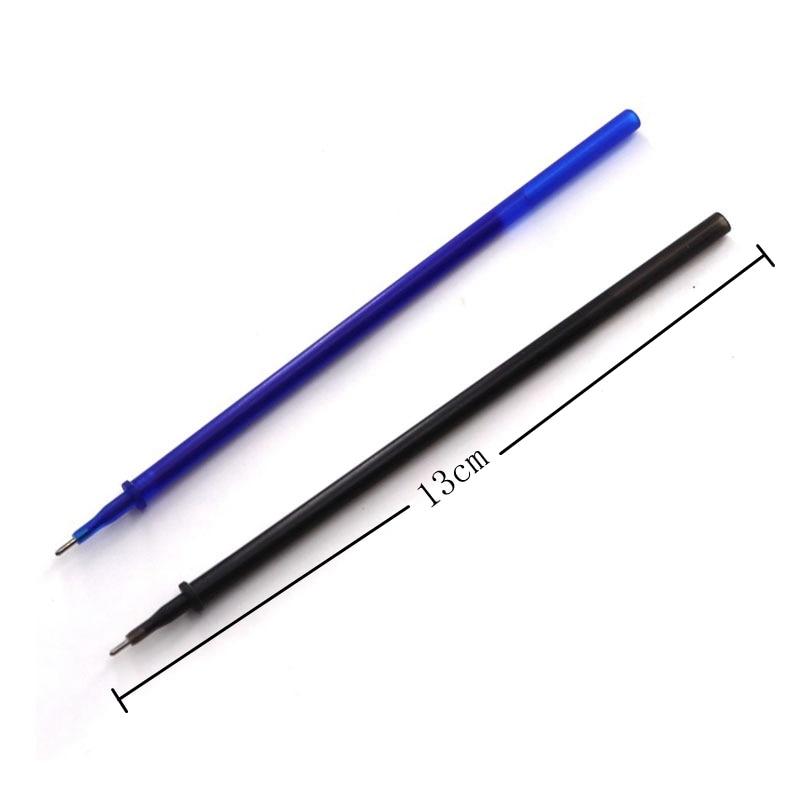 Купить с кэшбэком 12/20Pc/Set Office Gel Pen Erasable Refill Rod Erasable Pen Washable Handle 0.5mm Blue Black Green Ink School Writing Stationery