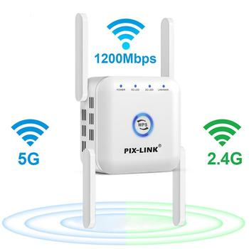 5G Wifi Repeater 5ghz Repeater Wifi 1200M Router Wifi Extender Long Range 2.4G Wi Fi Booster Wi-Fi Signal Amplifier Access Point 1