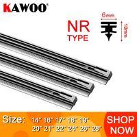 "KAWOO Car windscreen Wiper Blade Insert Natural Rubber Strip NR 6mm (Refill) 14""16""17""18""19""20""21""22""24""26"" 1pcs Car Accessories|Windscreen Wipers| |  -"