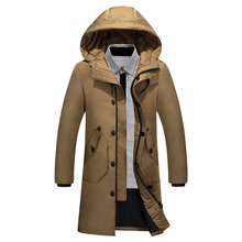 90 Winter Duck Down Men Casual Clothing Outwear Down Jackets Male Fashion Puffer Jacket 2019 Menswear Winter warm down coat cheap JUNGLE ZONE Thick (Winter) JUNGLE ZONE 918-65 REGULAR Single Breasted Denim Acetate White duck down Full Solid NONE Pockets