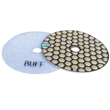 White Buff Polishing Pad Dry  For Granite,Marble And Engineered Stone