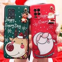 Custodia per cervi di babbo natale per Xiaomi Redmi Note 10 9 S 8 8T 9 S 7 6 5 Mi 11 10T Lite Pro Max 9A 9C Poco F3 X3 M3 NFC Cover