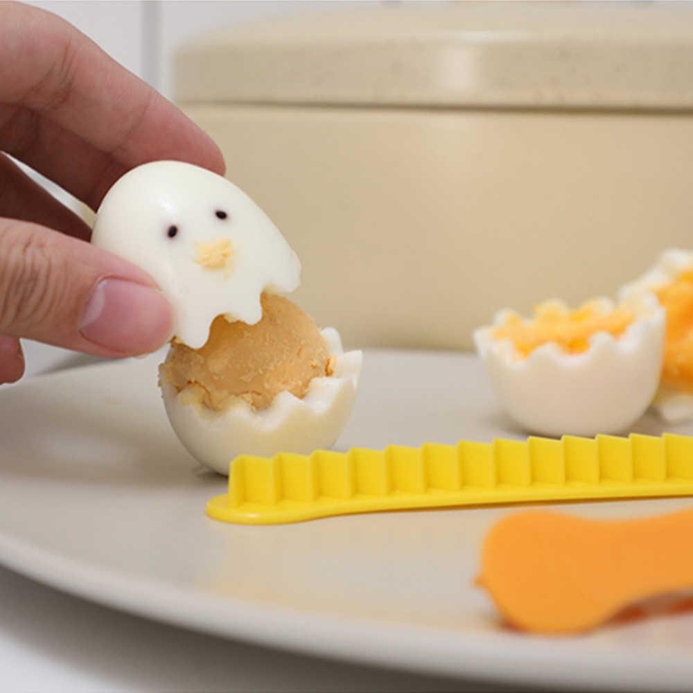 2 Pcs Fancy Cut Uova Cotte Uova Taglierina Elettrodomestici Strumenti di Uova Sode Creativo Bento del fiore da taglio shaper accessori Da Cucina di VENDITA