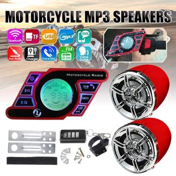Motorcycle Studio bluetooth Audio Sound System Stereo Speaker voice Dial FM Radio MP3 Music Player Scooter Remote Control Alarm motorcycle mutilmedia mp3 music player speakers audio fm radio security alarm wireless bluetooth remote with usb tf card slot