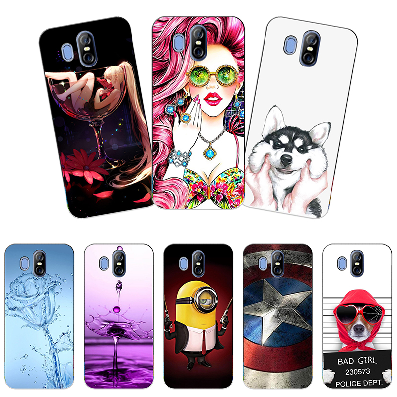 """Soft Silicon Printed Cell Phone Case Cover For Homtom S16 5.5"""" Colorful Back Cover cute Cartoon Flower pattened Case Hot Selling(China)"""