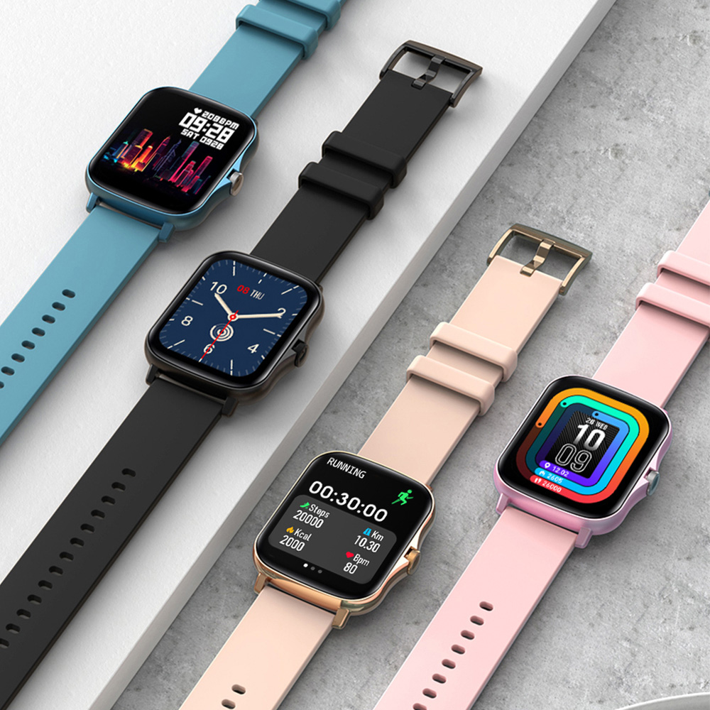 COLMI P8 Plus 1.69 pollici 2021 Smart Watch uomo Full Touch Fitness Tracker IP67 impermeabile donna GTS 2 Smartwatch per telefono Xiaomi 2
