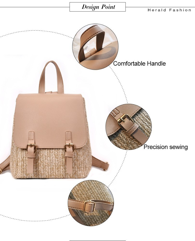 Hbe41c0c4a16e439cb2356d424fedc150s Herald Fashion Straw Woven Backpack Women Back Pack Autumn Teenage Girl Quality Backpacks Travel Bags Kawaii Rucksack Drop Ship