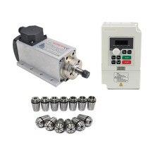 1.5KW/1500W 110 V/220 V квадратный Тип Вентилятор охлаждения шпинделя ER11 шпинделя+ 1.5KW частотно-регулируемым приводом Инвертор+ 13 шт./компл. ER11
