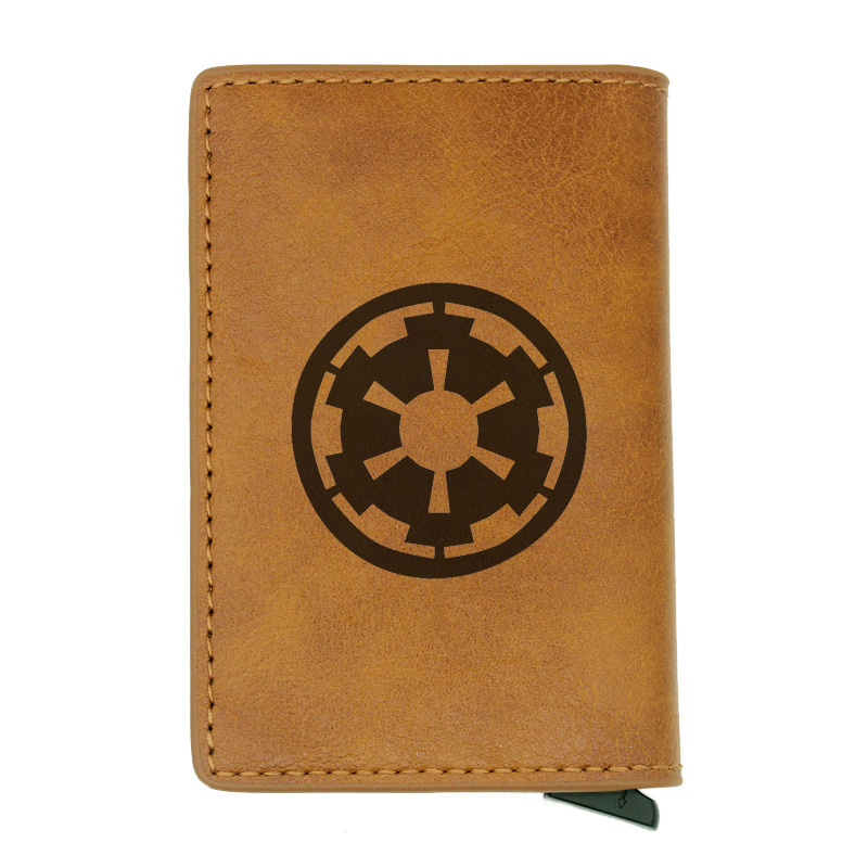 Classic Star Wars Design Rfid Card Holder Men Women Wallets Vintage Short Purse Leather Slim Wallets Mini Wallet Gifts