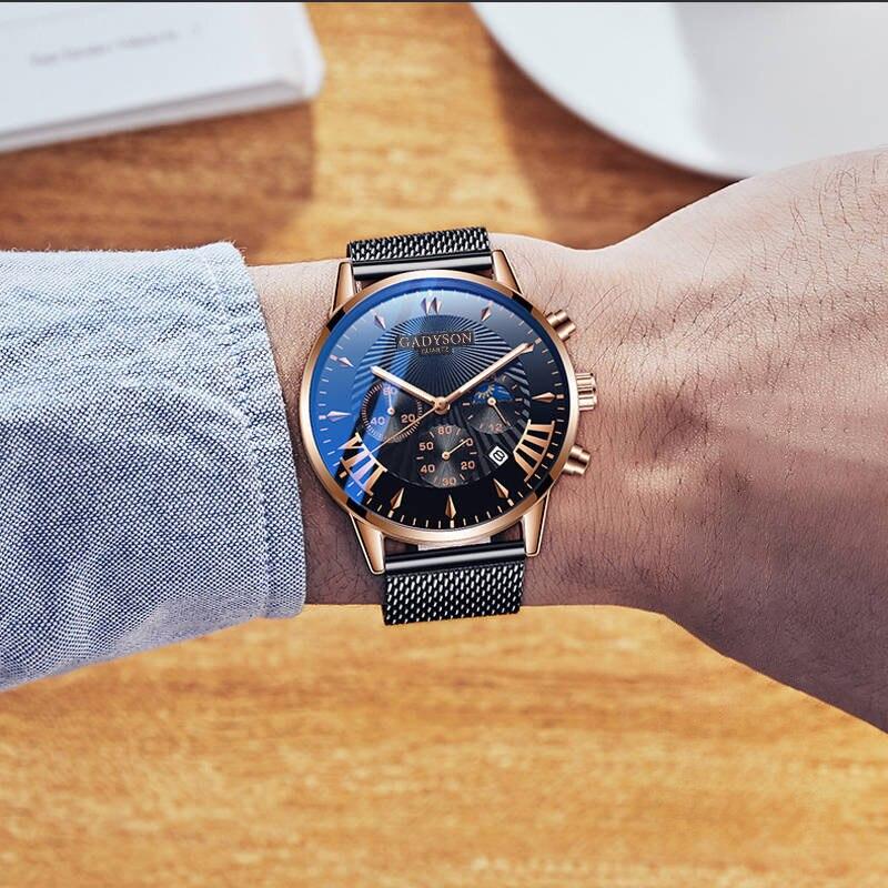 2020 Men Watch Fashion Simple Analog Quartz Wristwatch Man Luxury Steel Mesh Belt Wrist Watches Men Classic Business Male Clock
