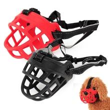 Basket Muzzle Pet Soft-Straps Anti-Bite Dogs-P Adjustable Silicone Large Rubber for Medium