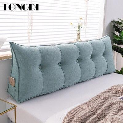 Tongdi casa macio grande travesseiro de volta almofada longa camurça elástica encosto multifuncional decoração luxo para cabeceira assento cama sofá