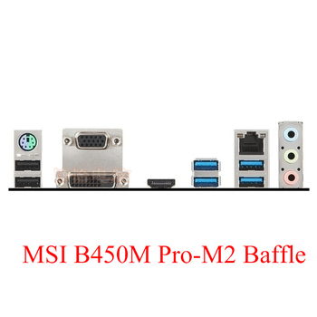 New I/O Shield Back Plate Bracket of Motherboard for MSI B450M PRO-M2 IO Baffle Support Custom Baffle image