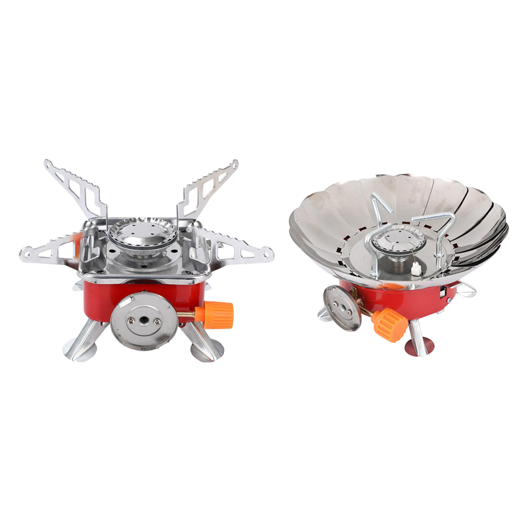 Outdoor Picnic Camping Gas Burner Mini Stove Head Folding Stainless Steel FN