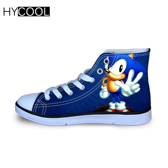 Image 3 - HYCOOL Children Running Shoes For Kids Boys Sonic the hedgehog Sneakers Outdoor Sports Shoes High Top Canvas Shoes Toddler ChildWalking Shoes   -