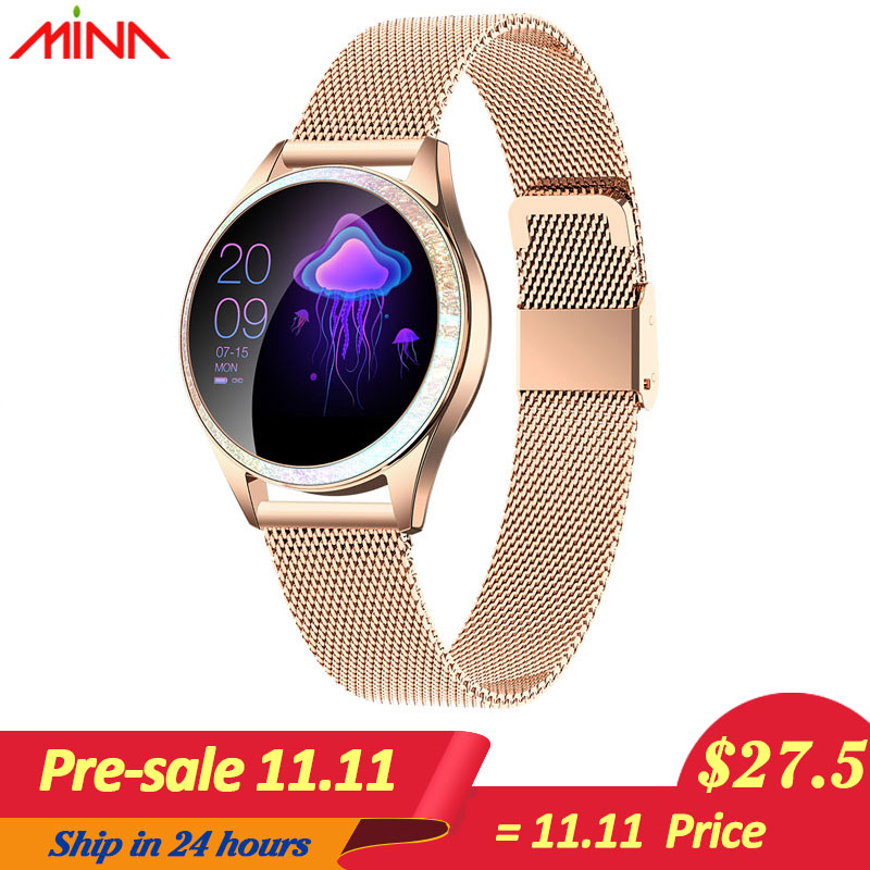 Newest KW20 Smart Watch Women IP68 Waterproof Heart Rate Monitoring Bluetooth For Android IOS Fitness Bracelet Female Smartwatch