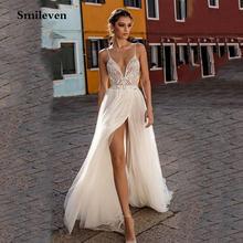 Smileven пляжное свадебное платье бохо vestido de noiva; Обувь