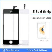 Numériseur décran tactile pour iPhone 5 5s 6 plus 6S se 5c écran tactile + cadre écran tactile avant lentille en verre 6 p 6s accessoires de téléphone