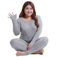 Roupa interior térmica 3xl 4xl 5xl 90kg wear manga longa mulher mais tamanho térmico longo johns outono