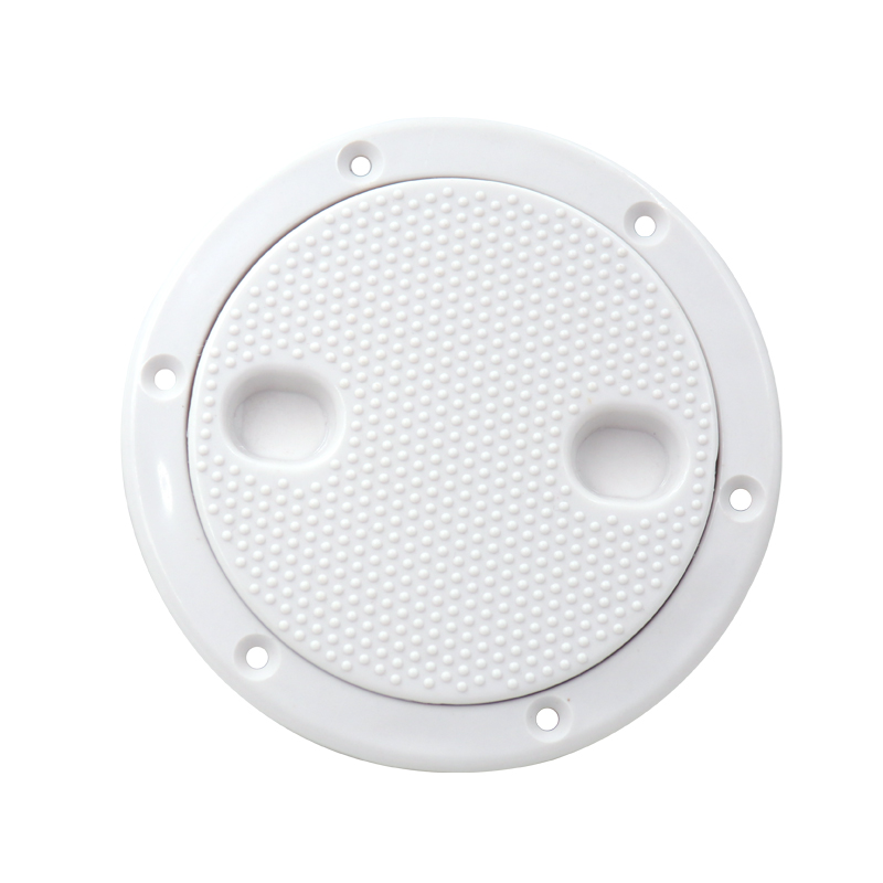 1 Piece ABS Inspection 4 Inch No Screw Round Anti-corrosive White Access Hatch Cover Deck Plate For Boat Yacht Marine Tight