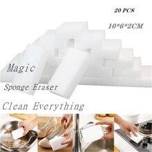 10 sztuk/20 sztuk gąbka z melaminy magiczna gąbka do wycierania środek do czyszczenia melaminy do kuchni biuro czyszczenie łazienki Nano gąbki 10x6x2cm