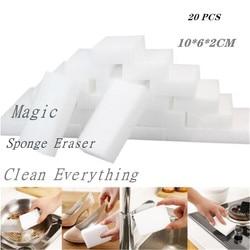 10 sztuk/20 sztuk gąbka z melaminy magiczna gąbka do wycierania środek do czyszczenia melaminy do kuchni biuro czyszczenie łazienki Nano gąbki 10x6x2cm w Gąbki i zmywaki od Dom i ogród na
