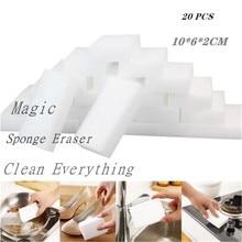 Éponge magique nettoyant de mélamine, 10 pièces/20 pièces, pour la cuisine, la salle de bain, le bureau, la salle de bain, éponge à récurer