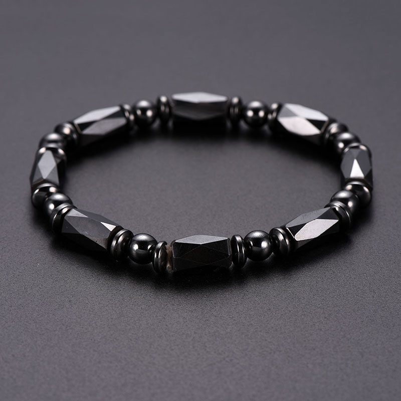 Men Bracelet Natural Jewelry Natural Stone Genuine Leather Bracelet Black Stainless Steel Magnetic Clasp Tiger Eye Bead Bracelet