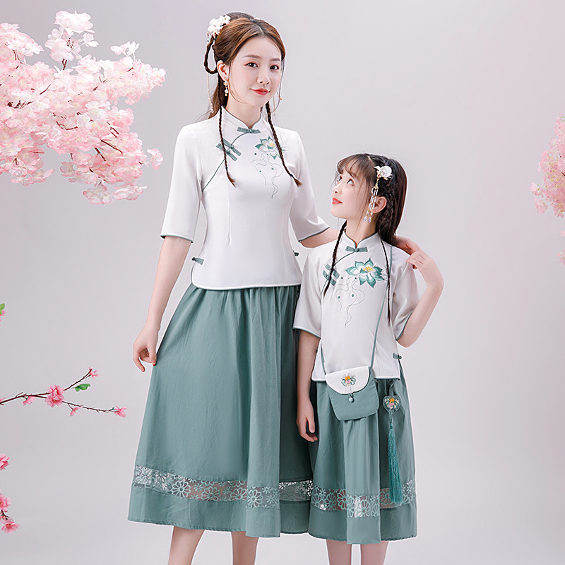 hanfu women dress cosplay hanfu dress chinese dress qipao cheongsam dress short sleeve summer girls hanfu exotic apparel