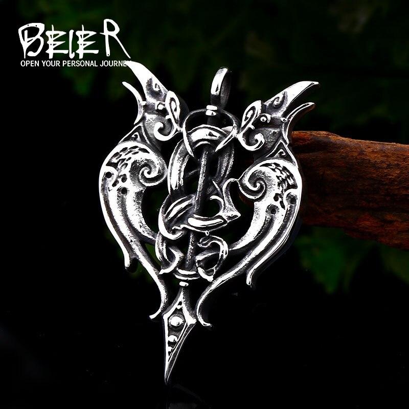 Stainless Steel Retr Revenge Battle Axe Evil Eye Pendant Necklace for Boys
