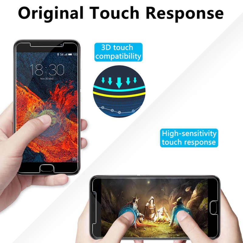 2Pcs! Transparan Kaca Ponsel Kaca Pelindung untuk Meizu Pro 7 6 Plus 5 Ponsel Film Depan untuk Meizu 16 Ditambah 15 lite