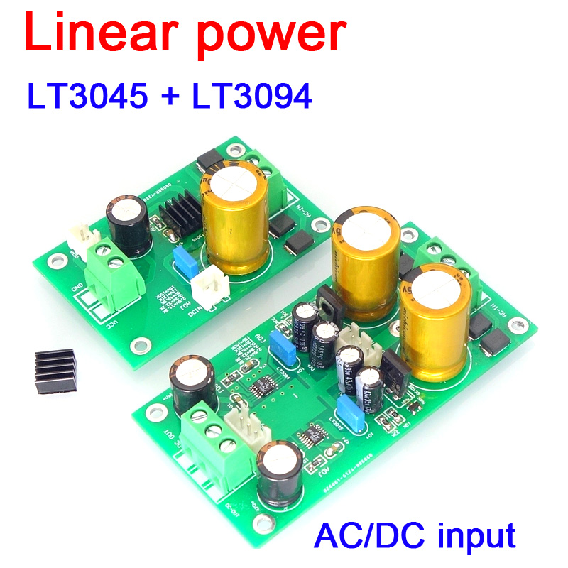 LT3045 LT3094 DC/AC Positive Negative Voltage Low Noise Regulated Linear Power Supply 5V 12V DAC Preamplifier Preamp Amplifier