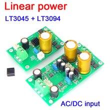 Lt3045 lt3094 fonte de alimentação linear regulada, baixa tensão negativa, regulada, fonte de alimentação dc/ac 5v 12v, preamplificador dac pré amplificador